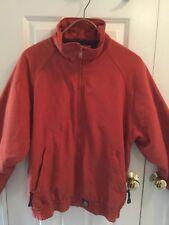 Mens Large Carhartt Fleece Lined Garage jacket Vtg. Rust red