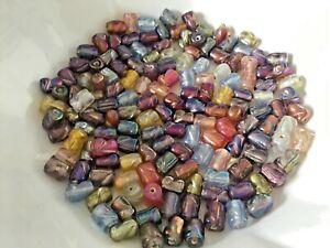 50pcs lustre glass tube mix 7mm .