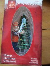 HOME DEPOT HOMER WITH FIR TREE HANDYMAN DAD CHRISTMAS HOLIDAY ORNAMENT. NEW!