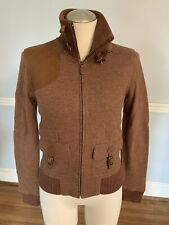 New listing Ralph Lauren Wool sweater jacket buckles equestrian women's brown S Herringbone