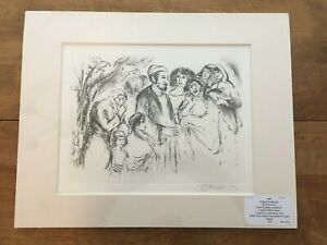 """IRA MOSKOWITZ (1912-2001) SIGNED ORIGINAL ETCHING """"REACHES OF HEAVEN""""  /24"""