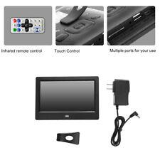 """7"""" HD TFT LED Bildschirm digitale Foto Bilderrahmen Wecker MP3/4 Movie Player"""