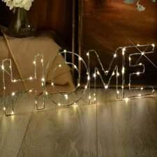 LED Luz de Estrellas Decoración De Alambre Mensaje Regalo Presente Cumpleaños Blanco Cálido-Home