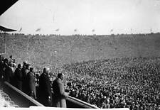 King George V and a huge crowd attend first FA Cup Final London 1923 OLD PHOTO