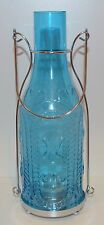YANKEE CANDLE FRENCH GLASS BLUE BOTTLE TEA LIGHT CANDLE HOLDER TEALIGHT LUMINARY