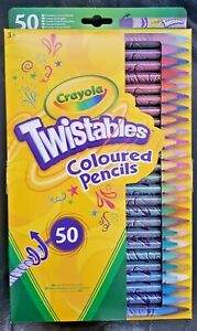 CRAYOLA 50 Twistables Coloured Pencils Multicolour Kids Original Gift Box Set 3+