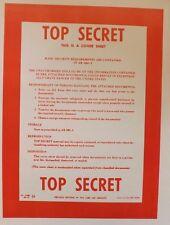 Top Secret Folder NRO DOD FBI DIA NSA CIA MI6 NSC NCIC ONI DCI POLICE