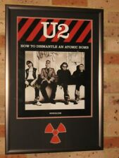 U2 - FULLY SIGNED - FRAMED PROMO POSTER - 2005 (HOW TO DISMANTLE AN ATOMIC BOMB)