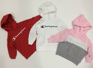 *LOT* CHAMPION Toddler Girls Sz 2T Hooded Pullover Sweatshirts