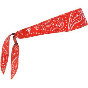 Halo Headband Sweatband Graphic Tie Version - Red Paisley