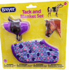 Breyer Tack & Blanket Set Ages 4 Purple English Style Scale 1 12