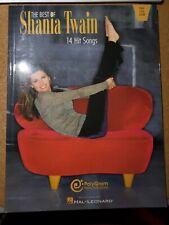 The Best Of Shania Twain Sheet Music Book