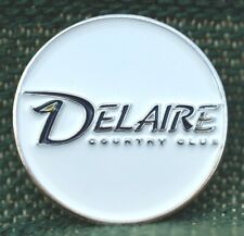 """RARE_Limited Edition_ DELAIRE COUNTRY CLUB  1"""" Ni-Silver Plated Ball Marker"""