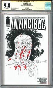 "invincible #111 CGC 9.8 ~Sketch Edition~ ""Death"" of Cecil Stedman!L@@K!"