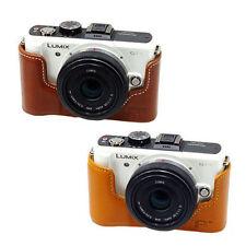 New HORUSBENNU Genuine Leather Camera Half /Bottom case for Panasonic LUMIX GF-1