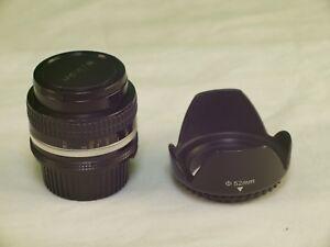 Nikon Nikkor 50mm F1.4 non-AI Manual Lens +Lens Hood