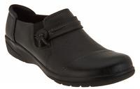 Clarks Leather Slip-on Shoes - Cheyn Madi Black  Women's 6.5 Medium