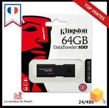 Clé Kingston DataTraveler 100 G3-DT100G3/64GB USB 3.0, 3.1 Clé USB , 64 GB, Noir