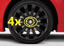 4x NEW Genuine Suzuki SWIFT Leipzig Matte Black Centre Caps Cap 990E0-68L70-CAP