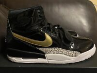 New Nike Air Jordan Legacy 312 Patent Black Gold Shoes Men's Size 11 AV3922-007