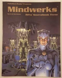 RIFTS Sourcebook Three: Mindworks Roleplaying Game 1994 SC 1st print Palladium