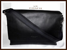 Coach Calf Leather Charles Briefcase Laptop Messenger Bag BLACK 54792 NWT NEW