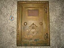 Bronze Caduceus Post Office Mail Chute Box Door Brass Postal Letter Slot Cutler?