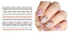 Nail Art Water Decals Stickers Transfers Pretty Geo Aztec Pattern Tribal (469)