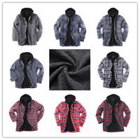 Flannel Jacket Plaid Jacket Hooded Zip Sherpa Lined Extra Heavyweight US Stock