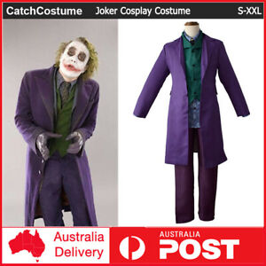 Batman The Dark Knight Joker Costume Halloween Party Fancy Dress Cosplay Outfits