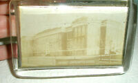 Vintage Glass Paperweight Oblong Hershey Consolidated School
