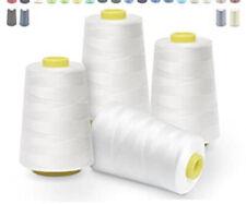 Nähfaden Faden Nähen Näh Weiß Polyester Handarbeit Nähmaschine Overlock Spulen