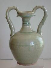 Tang Dynasty Green Glaze Double Dragon Vase 唐代青釉雙龍尊