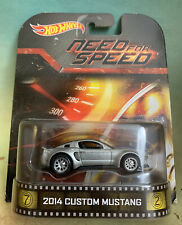 Hot Wheels Retro Entertainment Need For Speed 2014 Ford Mustang!!