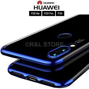 COVER per Huawei P20/ Lite /Pro CUSTODIA Tpu ORIGINALE ELECTROPLATING Ultra SLIM