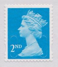 100 blue 2nd class stamps unfranked  off paper no gum FV £58