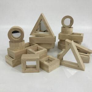 Mirror Blocks - 24pcs Creative Puzzles Ages 3 + for Cognitive Development