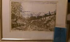 Original, signed Royal Academy exhibit, Margaret Rowney 'Farm Track, Hambleton'