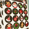 160pcs/10 sheet Merry Christmas Badge Sticker Envelope Seal Wrapping Stickers
