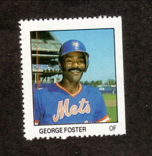 George Foster--New York Mets--1983 Fleer Baseball Stamp