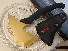 """Mtech Gold Hawk Throwing Axe Hatchet Spike Knife 5mm Tang MT-AXE13GD 14 3/4"""" New"""