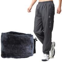 Mens Thermal Winter Fleece Lined Elasticated Work Cargo Combat Trousers Outdoor