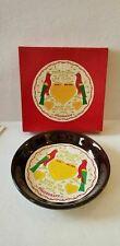 "Vtg Pfaltzgraff Pennsylvania Dutch Stoneware 9 1/4"" Brown Pie Plate w/Orig Box"