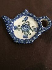 BOLESLAWIEC POLISH POTTERY Teabag holder