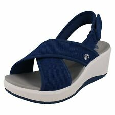 Ladies Clarks 'Step Cali Cove' Casual CloudSteppers Wedge Sandals - D Fitting