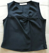 Designer Emporio Armani Wool Smart Office Formal Sleeveless Top Eur 44 UK 10 -12