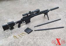 """1/6 X-Toys US Army MSR Modular Full Metal Sniper Rifle USMC F 12"""" Figure Black"""