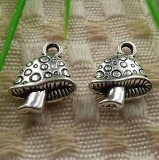 free ship 50 pieces tibetan silver mushroom charms 17x13mm #4211