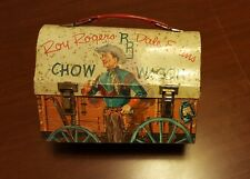 1950's ROY ROGERS & DALE EVANS CHOW WAGON Metal Dome Lunchbox