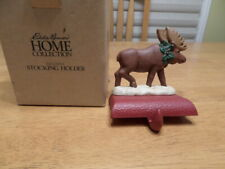 New ListingMidwest Of Cannon Falls Eddie Bauer Moose Cast Iron Stocking Holder New
